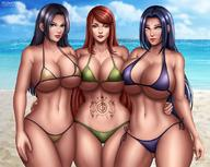 3girls 5:4_aspect_ratio adult bare_arms bare_hips bare_legs bare_midriff bare_shoulders bare_thighs beach belly bikini bikini_bottom bikini_top black_eyes black_hair blue_eyes blue_sky breasts busty byakugan clavicle cleavage closed_mouth clothed_female cloud cloudy_sky curvaceous day eyebrows female female_only flowerxl green_bikini group hair hair_over_shoulder hair_over_shoulders hand_on_another's_hip hands hinata's_mother hips huge_breasts human large_breasts lavender_eyes legs lips long_hair looking_at_viewer mature mature_woman micro_bikini midriff milf mother multiple_girls naruto navel ocean outdoors purple_bikini red_hair sand seaside shiny shiny_hair shiny_skin side-tie_bikini sky slender_waist smile standing stomach stomach_tattoo swimsuit tattoo thick_thighs thigh_gap thighs uchiha_mikoto underboob uzumaki_kushina very_long_hair water white_eyes wide_hips yellow_bikini yellow_swimsuit // 1080x862 // 138.9KB