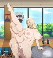1boy 1girl areolae blonde_hair breasts brown_eyes cyberunique edit excessive_cum grey_hair hatake_kakashi huge_breasts long_hair naruto_(series) naruto_shippuuden navel nipples nude open_mouth sex short_hair thick_thighs thighs tongue tongue_out tsunade vaginal vaginal_penetration // 1298x1407 // 227.1KB