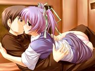 empty_eyes femsub kissing kouzuka_minami maledom minami_kara_no_tegami purple_eyes purple_hair red_eyes ribbon short_hair // 920x690 // 139.3KB