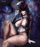 1girls big_breasts breasts cleavage dc female female_only flowerxl large_breasts lingerie looking_at_viewer pinup solo zatanna // 1080x1274 // 170.1KB