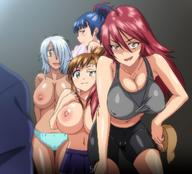 4girls distance huge_breasts joshi_lac! multiple_girls panties raika_tsurugi screen_capture shorts skirt sports_bra topless // 1286x1164 // 185.2KB