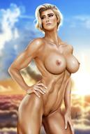 areolae arion69 blonde_hair breasts naked nude power_girl pubic_hair pussy short_hair vagina // 1286x1912 // 216.5KB