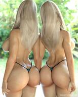 2girls 3d ass blonde breasts curvaceous eyelashes female from_behind high_resolution hourglass_figure huge_ass huge_breasts large_breasts multiple_girls siblings smz-69 solo thick_thighs thighs thong tina_(smz-69) topless_(female) trish_(smz-69) twins voluptuous wide_hips // 1180x1475 // 199.1KB