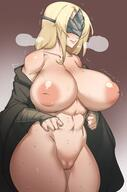 1girls blindfold blonde_hair breasts dark_souls dark_souls_3 female female_only fire_keeper huge_breasts inverted_nipples large_areolae large_breasts natedecock pussy steamy_breath sweat sweatdrop thick_thighs // 1288x1954 // 204.5KB