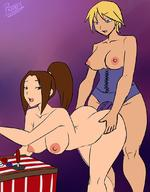 2girls art_of_fighting dildo doggystyle fatal_fury female from_behind high_resolution king_(snk) king_of_fighters multiple_girls nude pranky pranky_(artist) sex sex_toy shiranui_mai snk strap-on taken_from_behind very_high_resolution yuri // 850x1091 // 122.5KB
